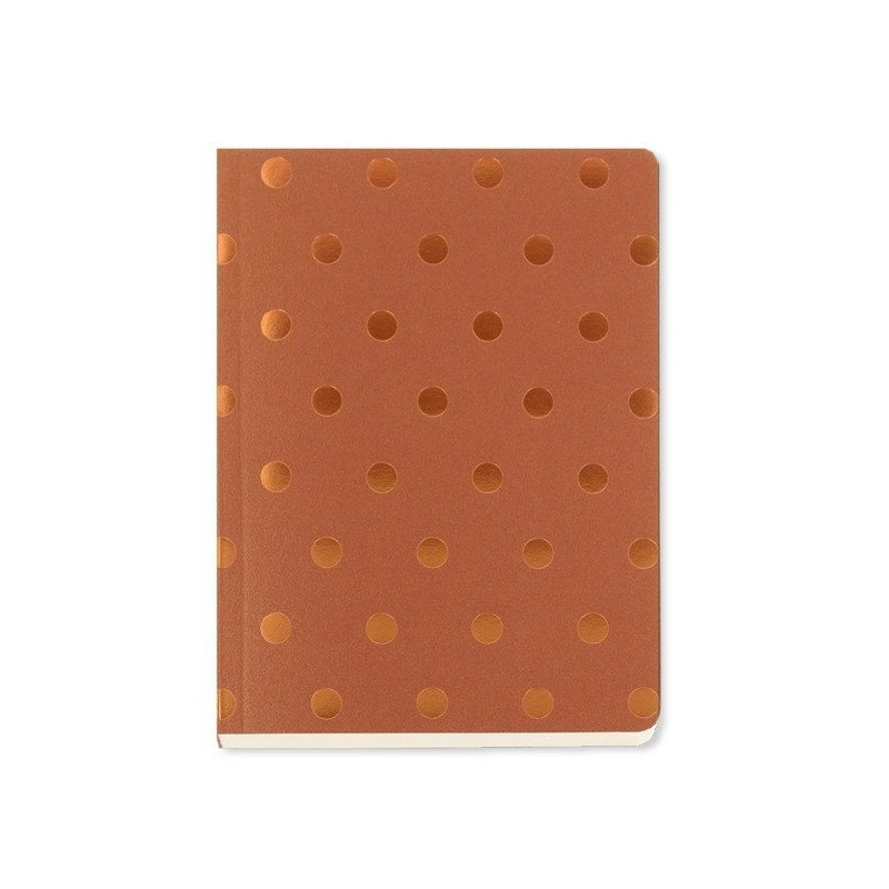 Zápisník A6 Go Stationery Polka Copper