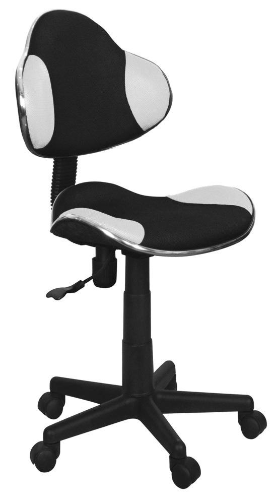 Detská stolička Q-G2 látka, čierno-biela