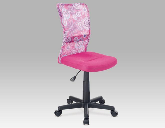 Kancelárska stolička KA-2325   Farba: ružová s motívom