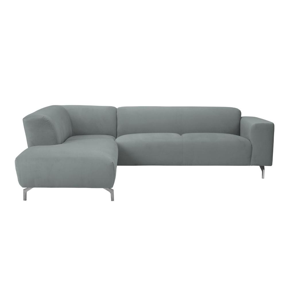 Sivá rohová pohovka Windsor & Co Sofas Orion, ľavý roh