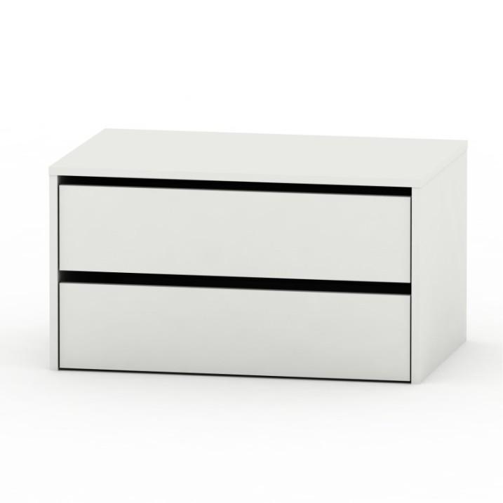 TEMPO KONDELA 2 šuplíkový kontajner, biela, RIA