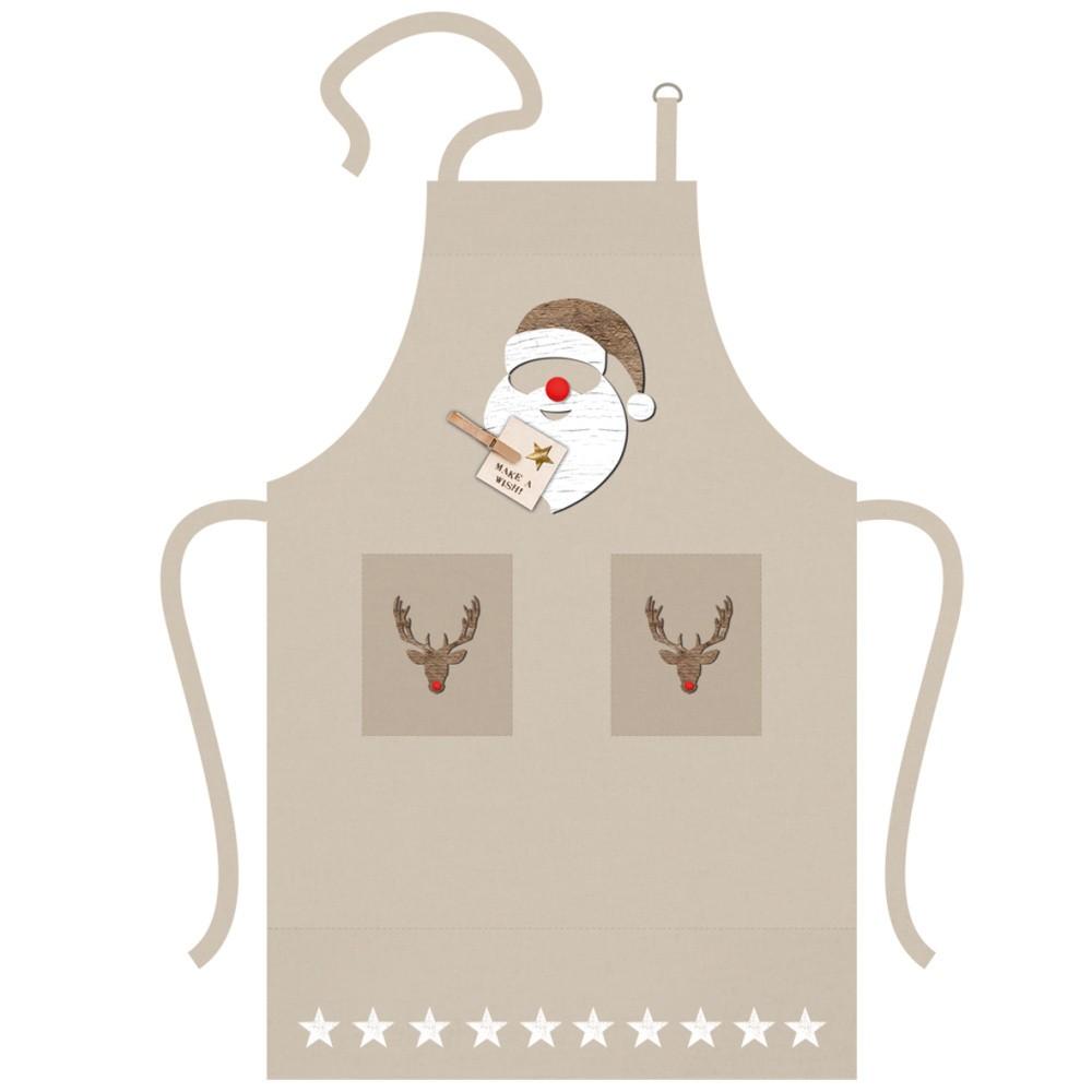 Bavlnená kuchynská zástera s vianočným motívom PPD Santa Red Nose