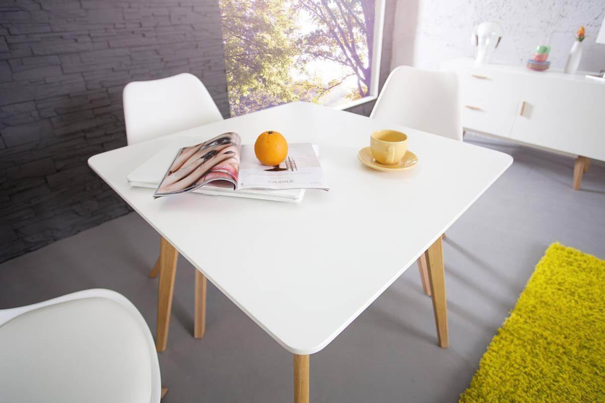 Jedálenský stôl SCANIA MEISTER 80cm - biela