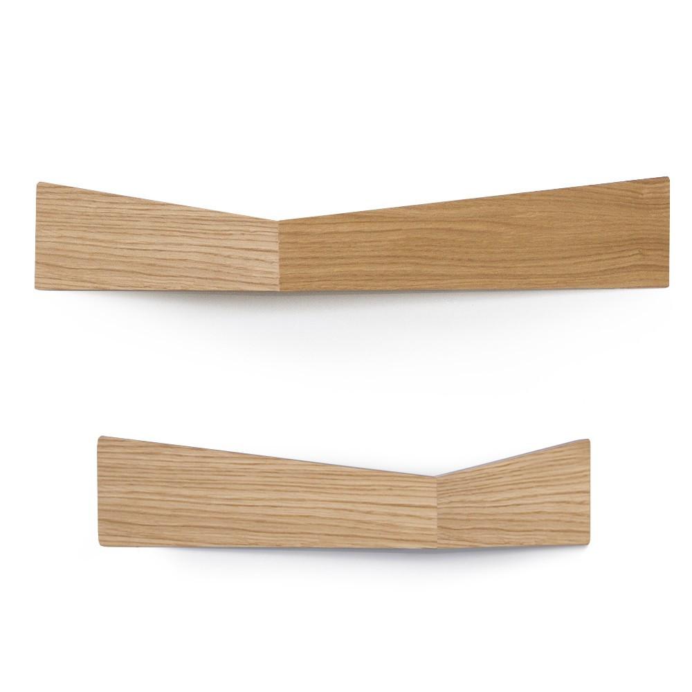Sada 2 nástenných organizérov Woodendot Pelican Oak M+L