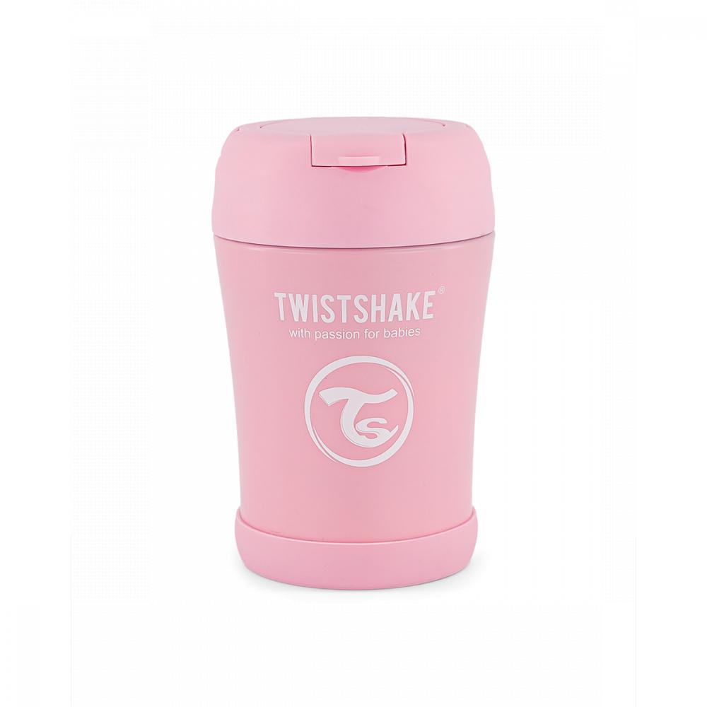 Twistshake Termoska na jedlo 350 ml, ružová