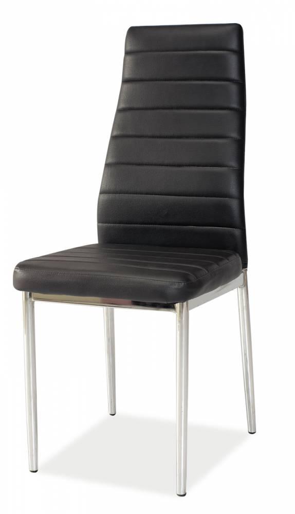Jedálenská stolička H-261 (ekokoža čierna)