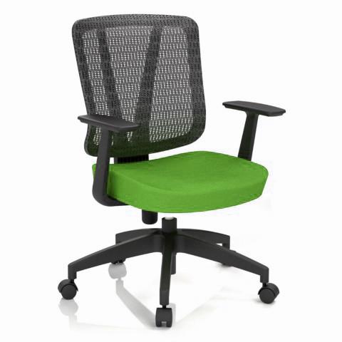 Rauman Kancelárska stolička Casa, zelená, opora chrbta sieťová čierna CASA NET B11