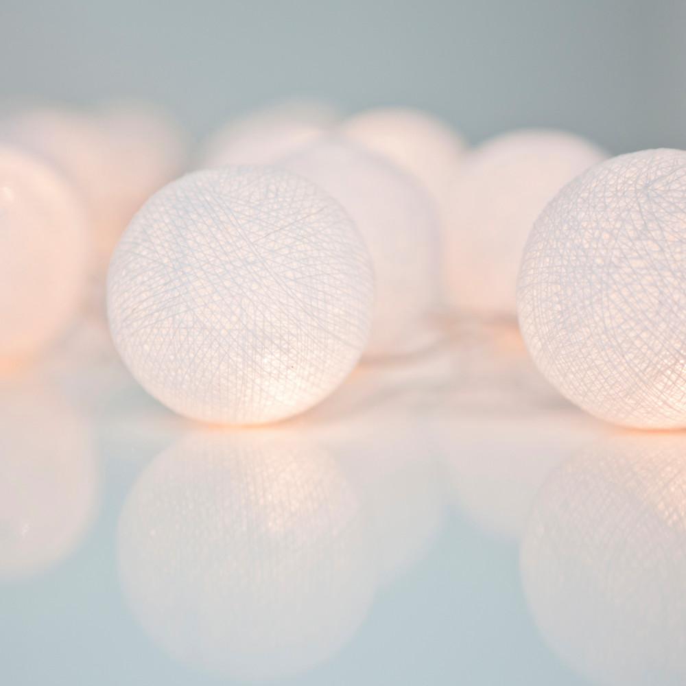 Svietiaca reťaz Irislights  Pure White,20svetielok