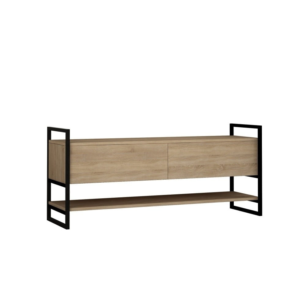 TV stolík s detailmi v dekore dubového dreva Garetto Metola Oak