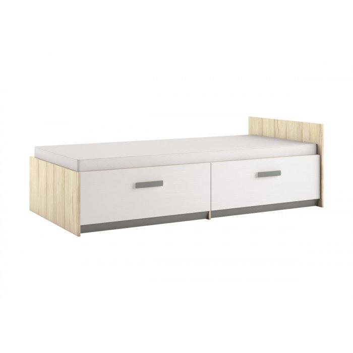 ML MEBLE BEST 17 90 posteľ - breza / biela linea / sivá