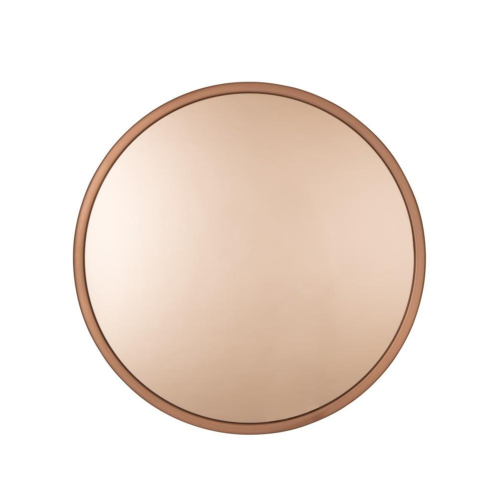 Nástenné zrkadlo v medenej farbe Zuiver Bandit, Ø 60 cm