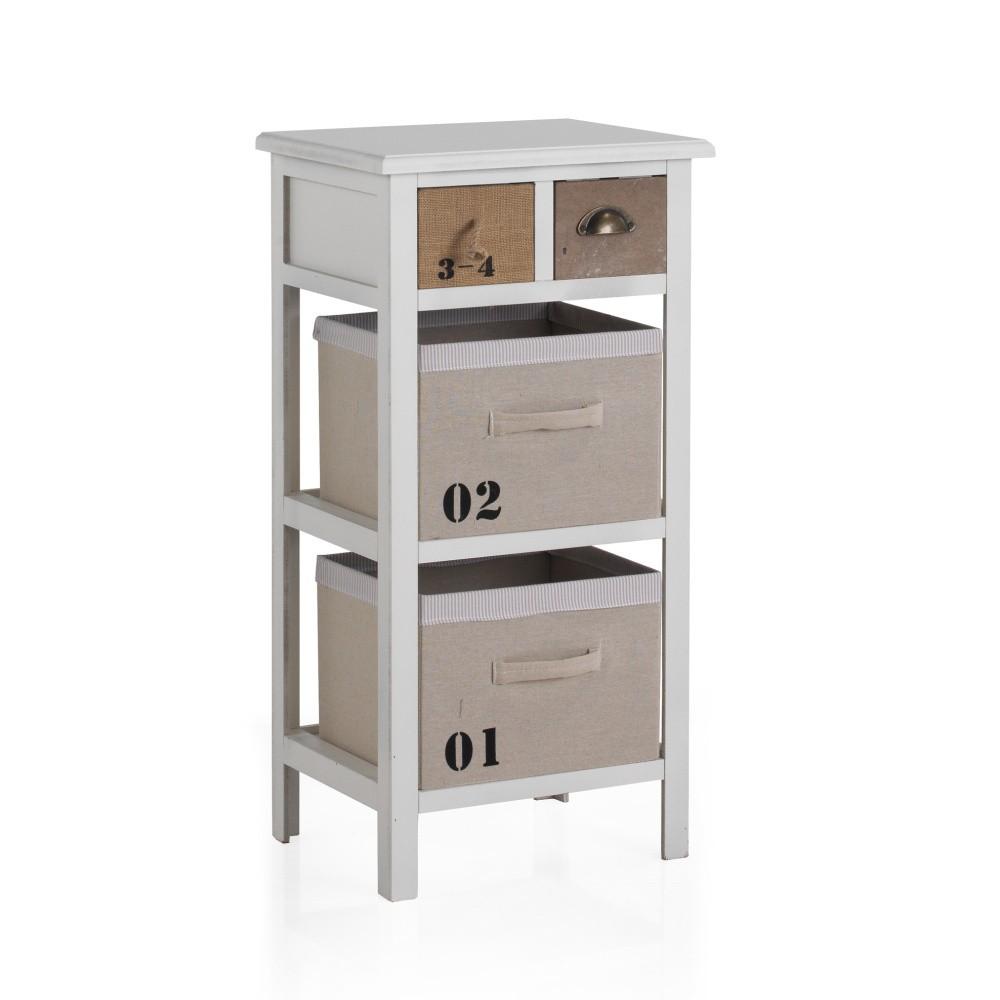 Nočný stolík so 4 zásuvkami Geese Lola