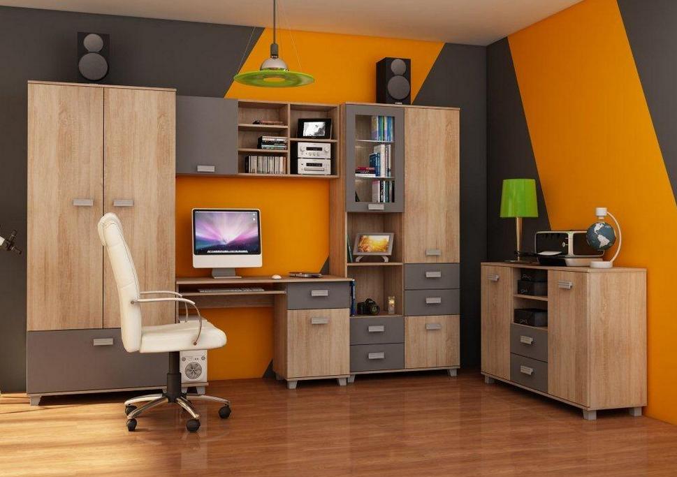 Študentská izba SOLO II   Farba: Dub sonoma svetlá / sivý mat