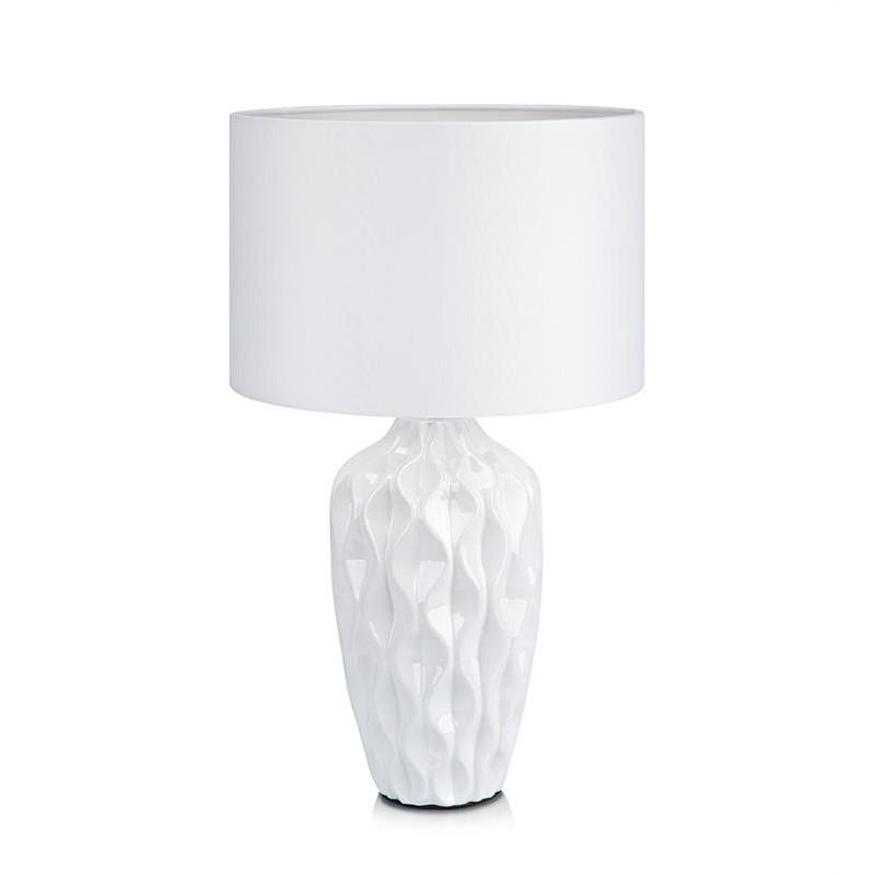 Biela stolová lampa Markslöjd Ben