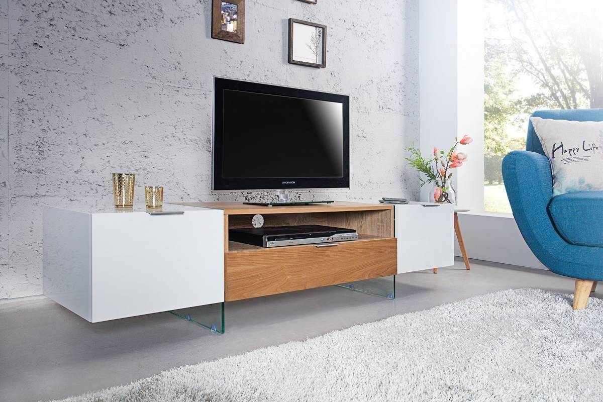 TV stolík PONYX 160 cm - biela