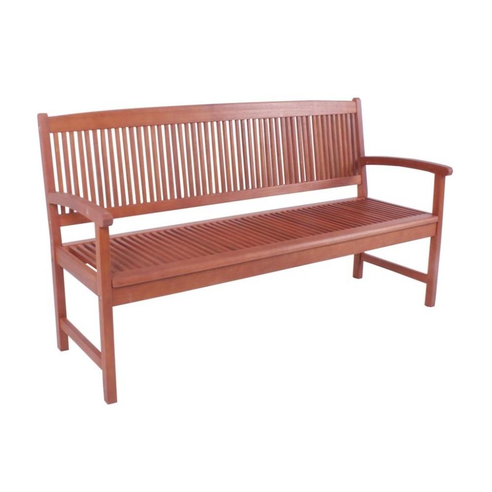 Záhradná dvojmiestna lavica z eukalyptového dreva ADDU Stockholm