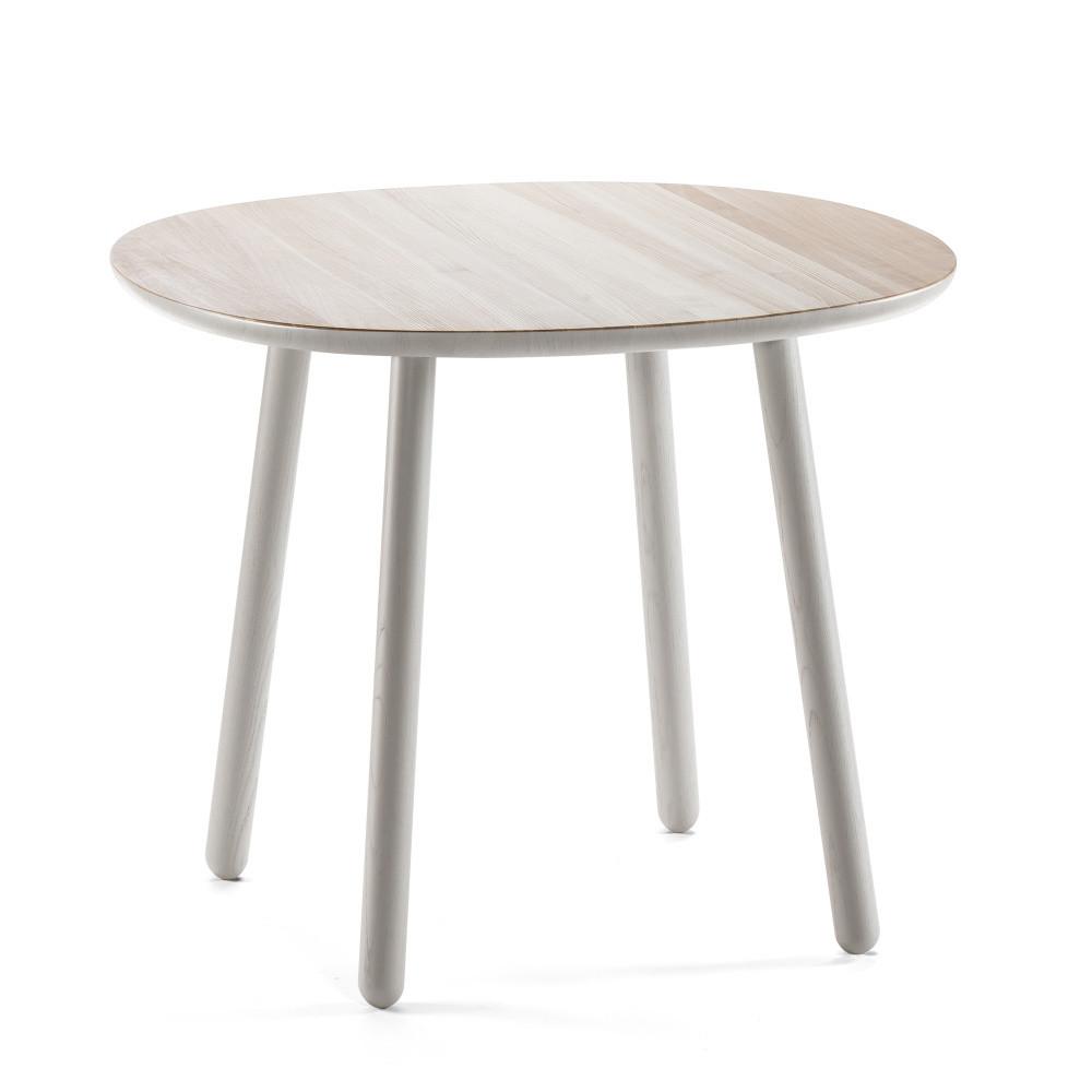 Sivý jedálenský stôl z masívu Emko Naïve, 90 cm