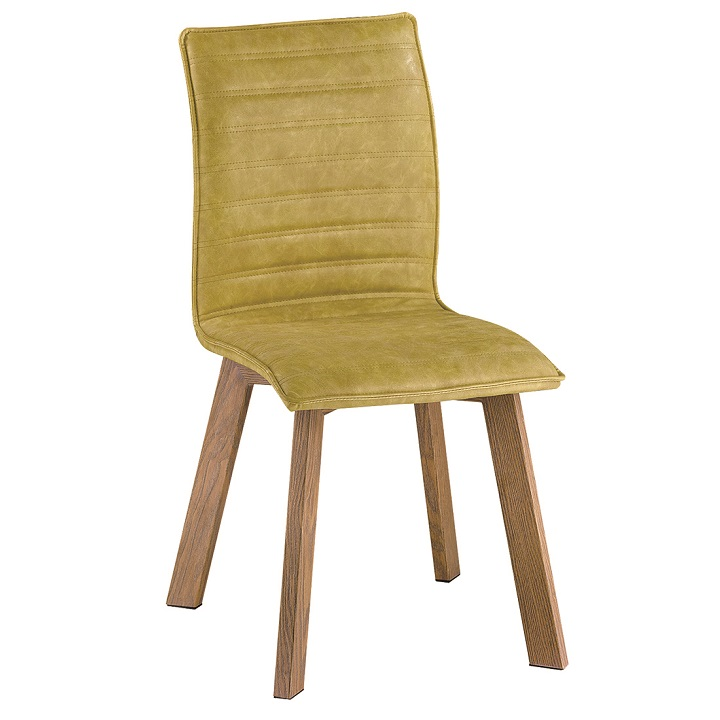 Jedálenská stolička Nastia (zelená ekokoža)