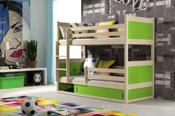 Poschodová posteľ Rico 2 zelená