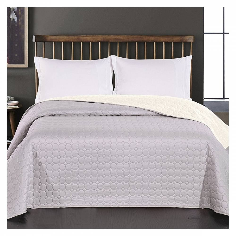 DecoKing Prehoz na posteľ Salice svetlosivá, 220 x 240 cm