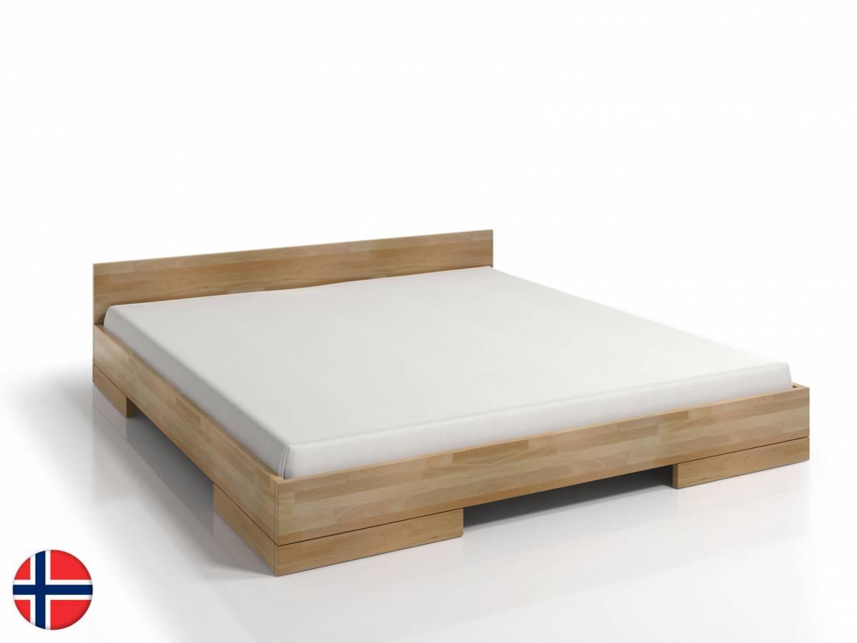 Manželská posteľ 180 cm Naturlig Stalander Long (buk) (s roštom)