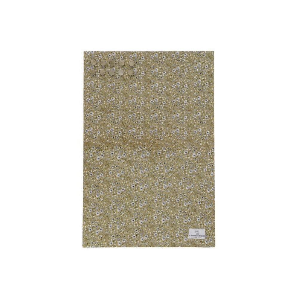 Kovová tabuľa na odkazy A Simple Mess Paule Golden Yellow, 40×60 cm
