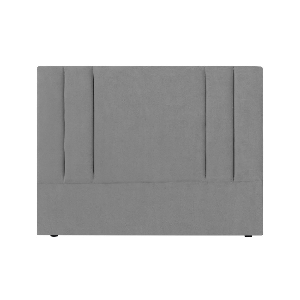 Sivé čelo postele Kooko Home Kasso, 120 × 180 cm