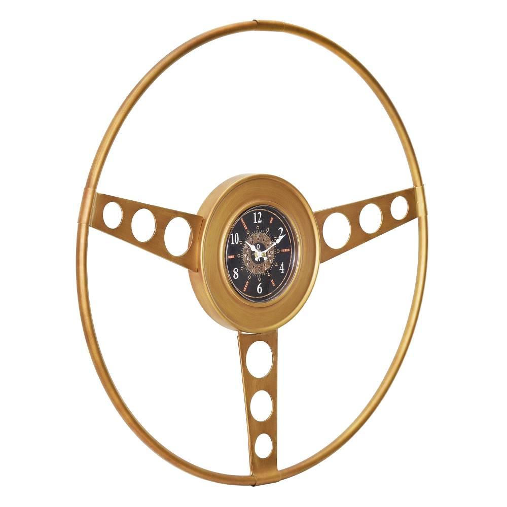 [en.casa]® Nástenné hodiny Oldtimer volant - analógové - 68 x 5,5 x 68 cm - farebné