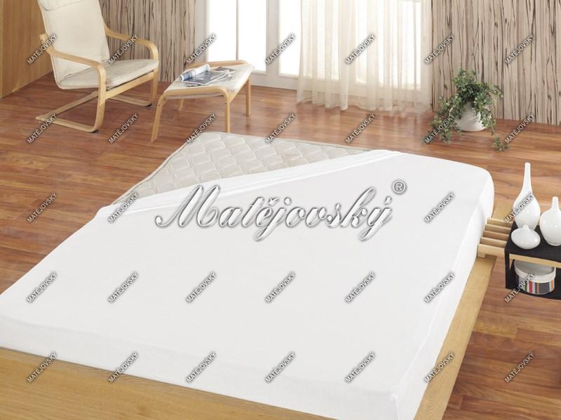 Matějovský prestieradlo Jersey biela, 180 x 200 cm