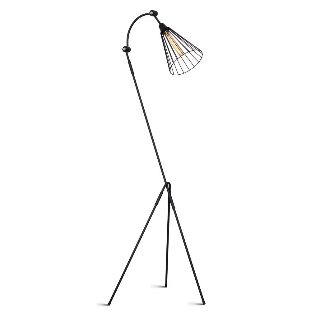 Čierna voľne stojacia lampa Glimte Nasto II Black