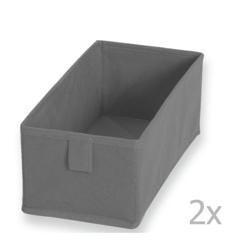 Textilná zásuvka/box Drawer Grey,13x28cm