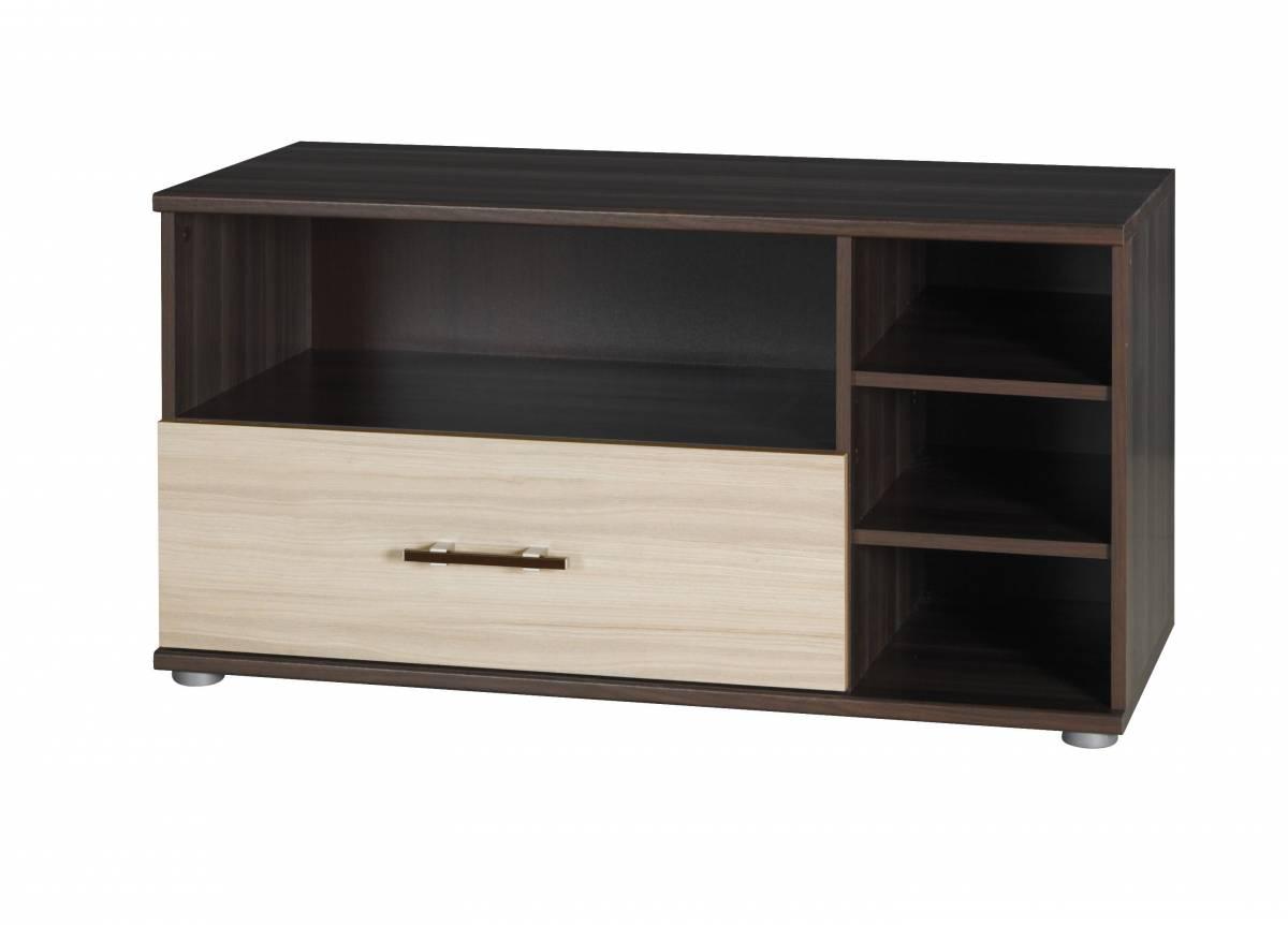TV stolík/skrinka I15 (jaseň tmavý + jaseň)