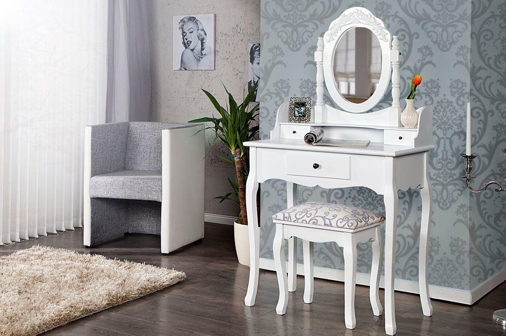 Toaletný stolík KELIS - biela