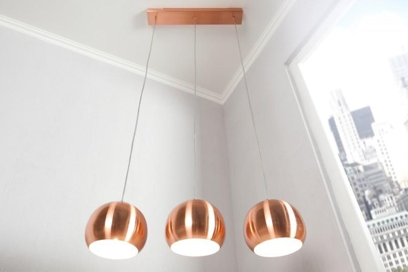 Visiaca lampa SOLOR - medená