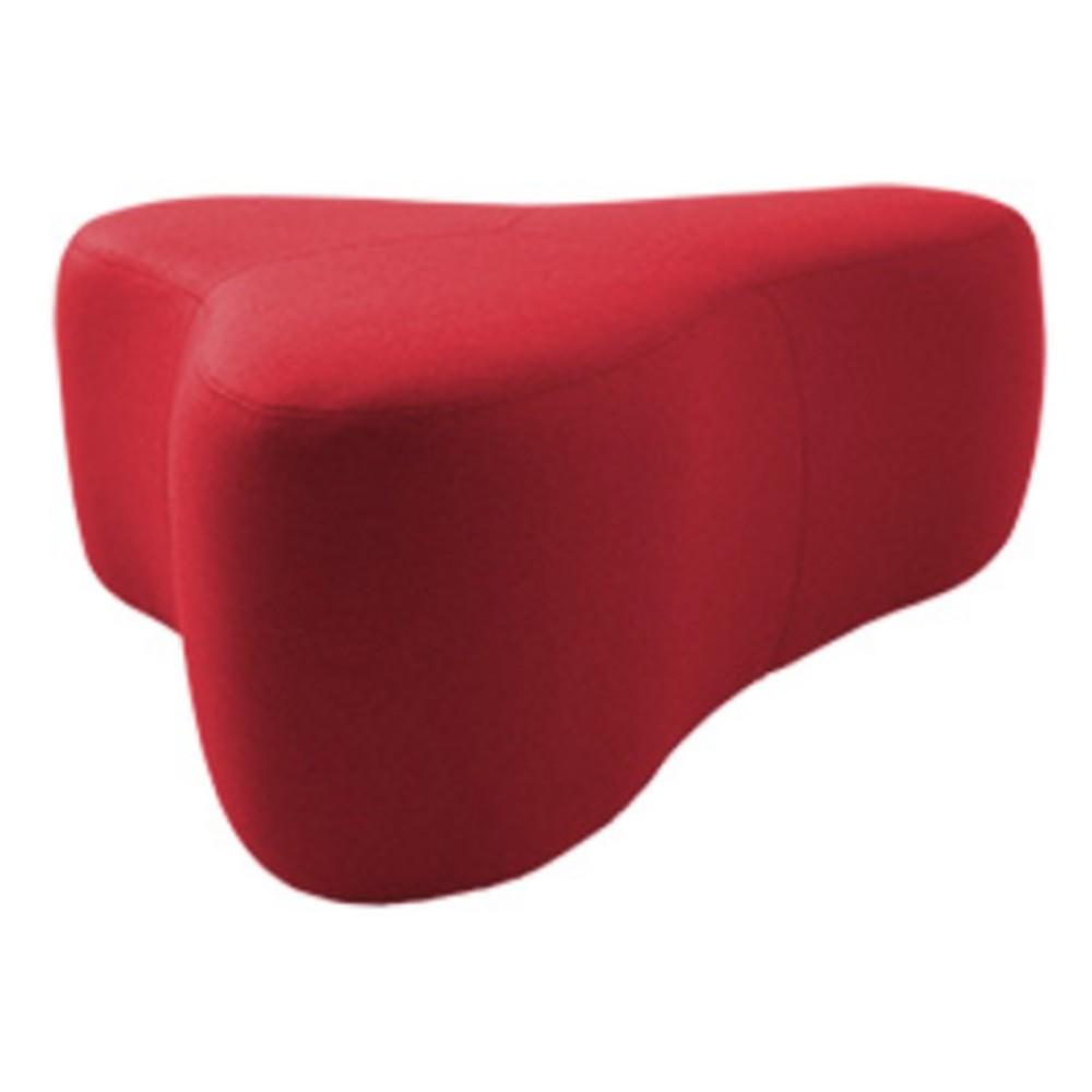 Červený puf Softline Chat Valencia Red, dĺžka 130 cm