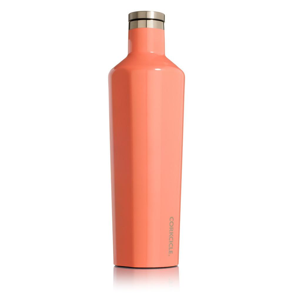 Oranžová termofľaša Corkcicle Canteen, 740ml