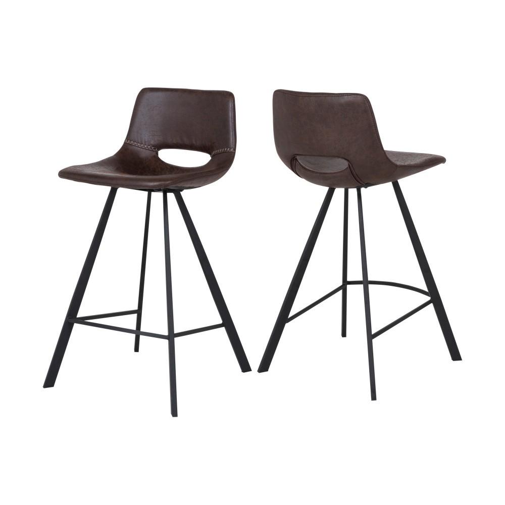 Čierna barová stolička Canett Coronas, výška 87 cm