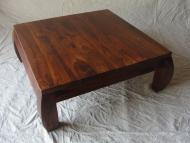 Furniture nábytok  Masívny konferenčný stolík  z Palisanderu  Kumár  80x80x30 cm