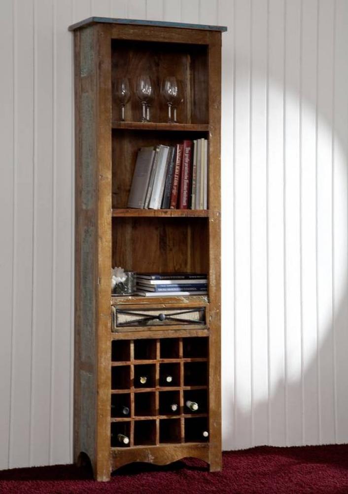 SPIRIT regál na víno #22 lakované staré indické drevo