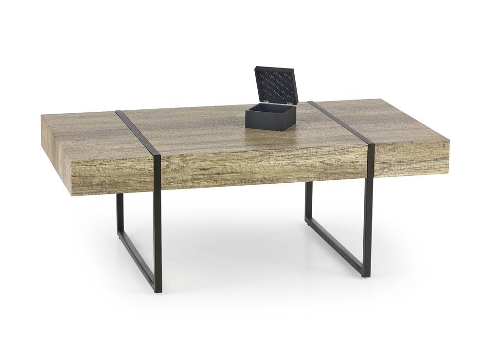 Konferenčný stolík Tiffany (dub divoký + čierna)