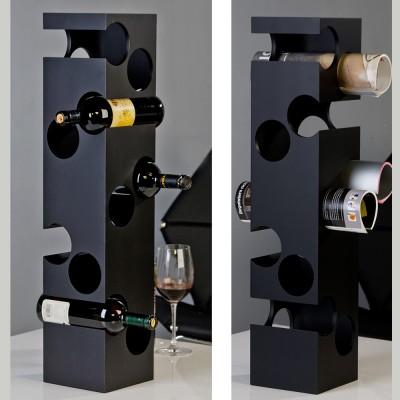 Stojan na víno CORNER - čierna