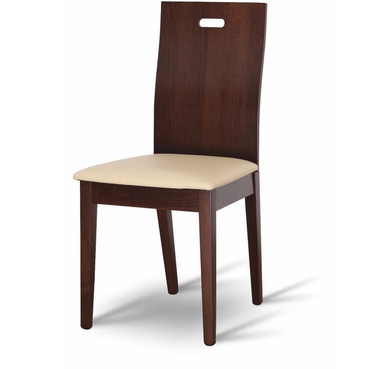 TEMPO KONDELA ABRIL jedálenská stolička - orech / béžová