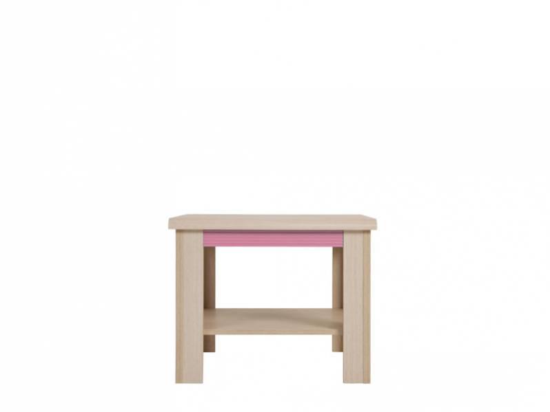 Konferenčný stolík Caps LAW/60   Farba: dub jasný belluno/ ružová