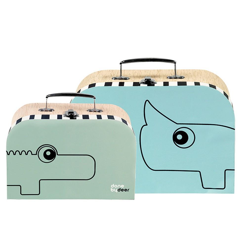 Sada 2 kufríkov Suitcase, modrá