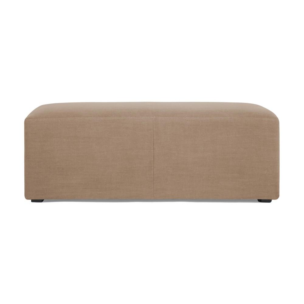 Puf v ťavej hnedej farbe Vivonita Grace Linen, 122 × 46 cm