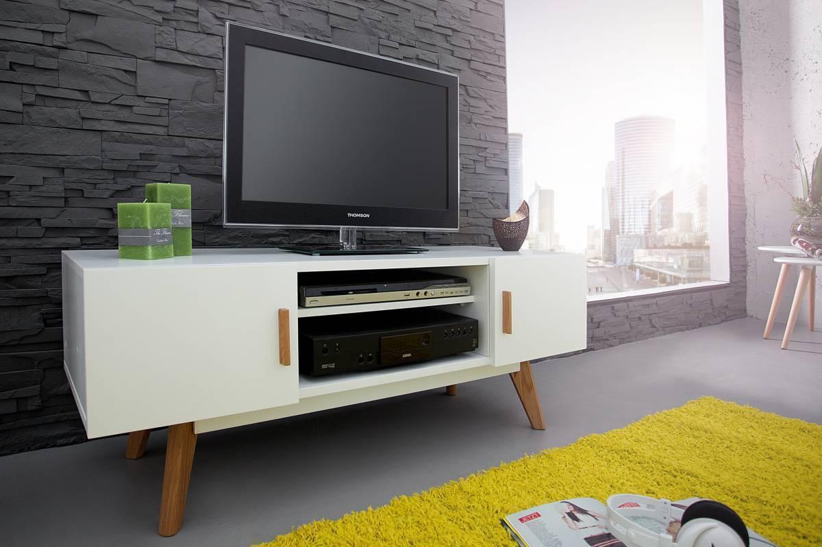 TV stolík SCANIA MEISTER - biela