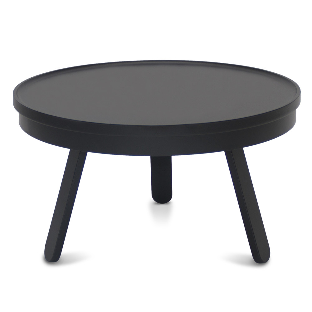 Čierny odkladací stolík s úložným priestorom Woodendot Batea Medium