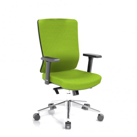 Rauman Kancelárska stolička Vella, zelený sedák aj opierka chrbta VELLA BF B11
