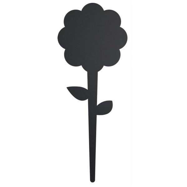 Popisovací štítok s kriedovým popisovačom Securit Silhouette Flower, 18 x 8 cm