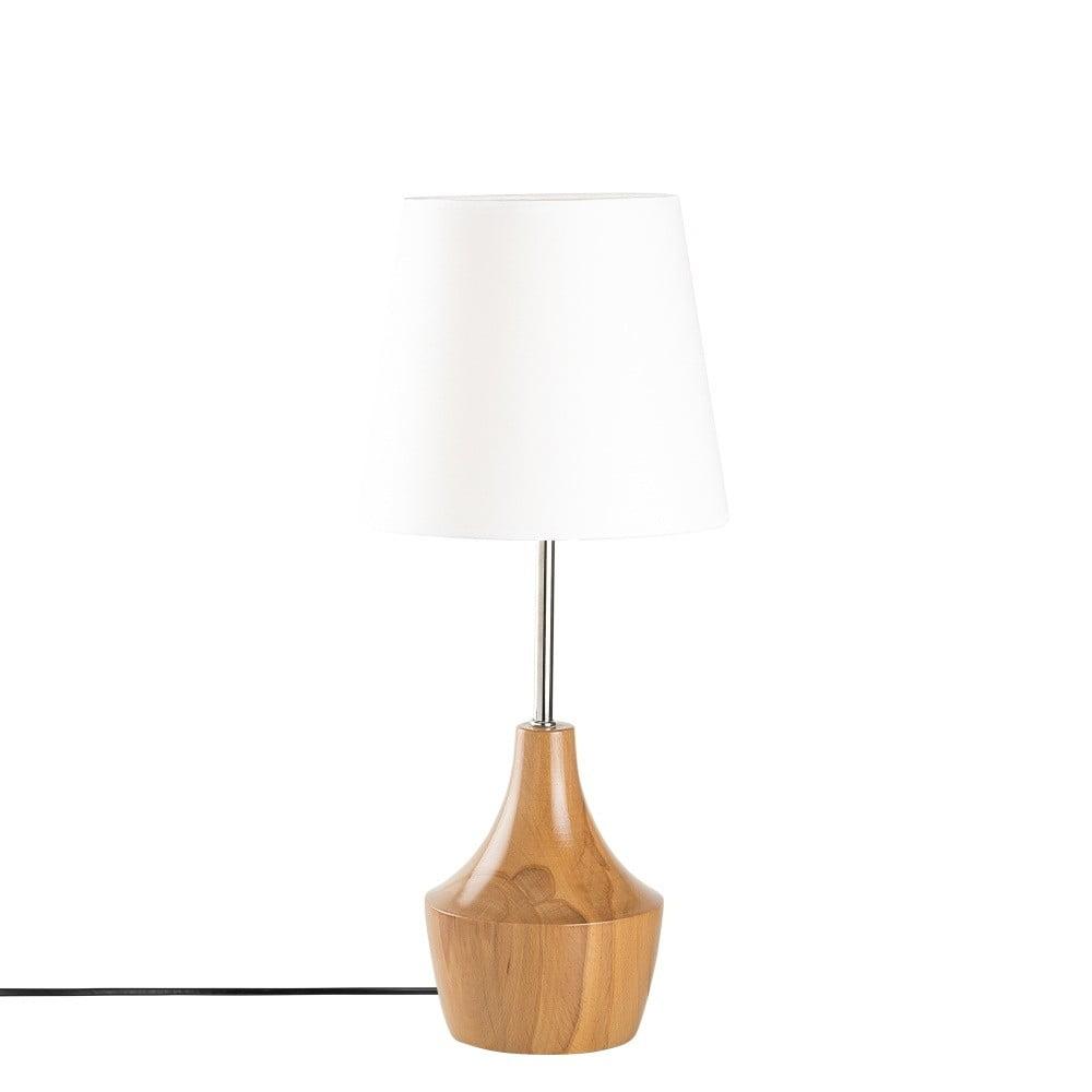 Drevená stolová lampa Opviq lights Mallina